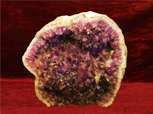 Gold Amethyst druse 1